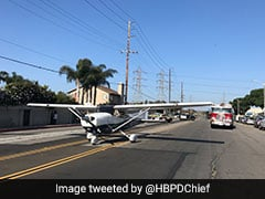 Plane Makes Emergency Landing On Busy Road. Caught On Camera