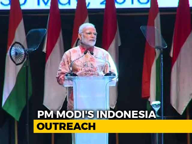"Video : ""I See India In Your Heart,"" Says PM Modi In Indonesia"
