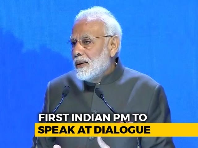 "Video : PM Modi Hails ""Rising East"" At Singapore Shangri-La Dialogue"