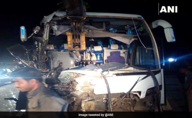 Driver Dead, 17 Doctors Injured As Bus Collides With Truck