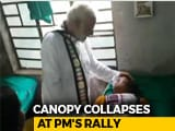 "Video : 24 Hurt After Canopy Collapses At PM's Bengal Rally; ""Don't Run,"" He Said"
