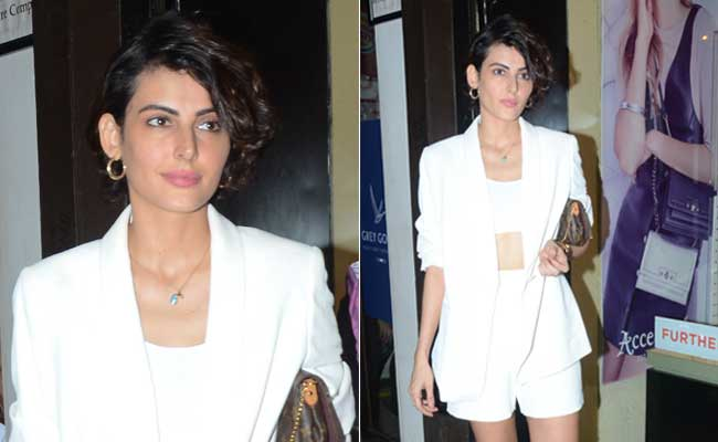 Mandana Karimi's Short Suit Is All Kinds Of Monsoon Fashion Goals