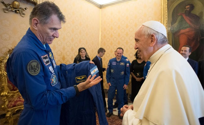 Astronauts Give Pope Personalised Space Suit, Add White Cape