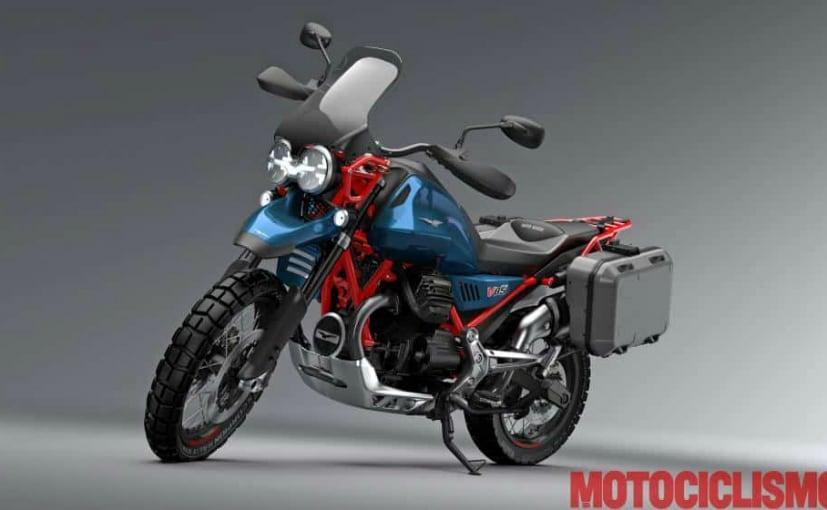 2019 moto guzzi v85 adventure bike revealed in photos ndtv carandbike. Black Bedroom Furniture Sets. Home Design Ideas