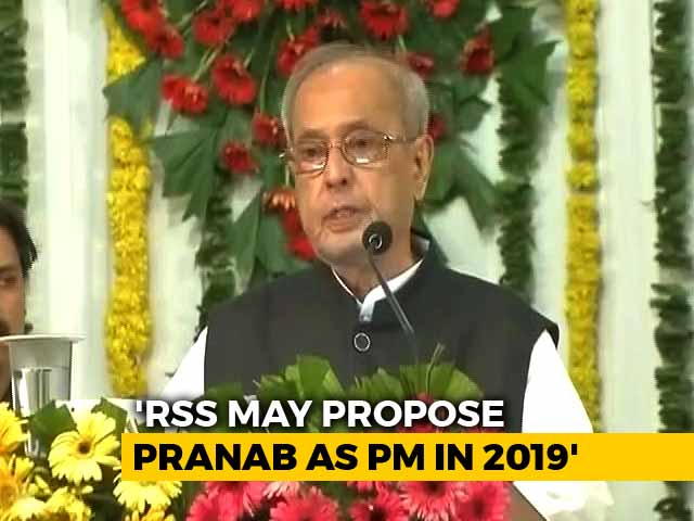Video : Cosying Up To Pranab Mukherjee Part Of 2019 Plan For BJP, Says Shiv Sena