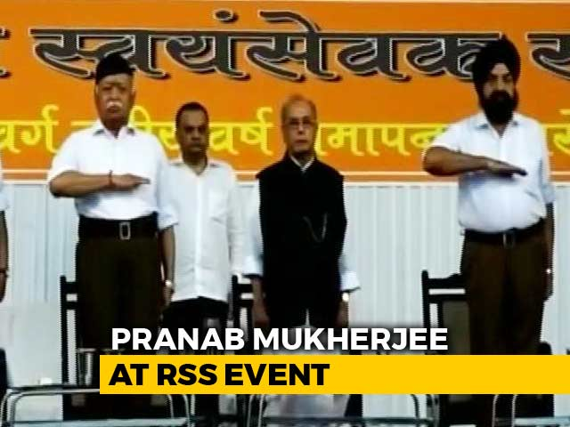 Video : Pranab Mukherjee At RSS Office, Calls Founder 'Great Son Of Mother India'