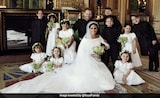 Harry, Meghan Markle Pose With Their Squad Of Page Boys And Bridesmaids
