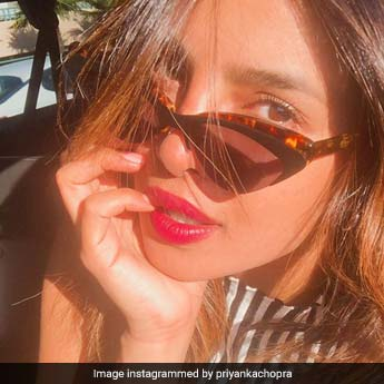 Priyanka Chopra Soaks Up The California Sun But Not Without Her Cat Eye Shades