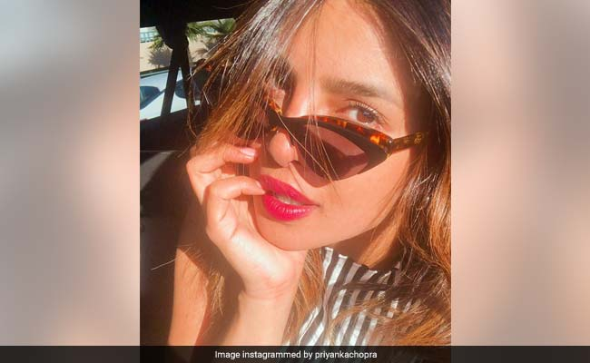 Priyanka Chopra Soaks Up The California Sun But Not Without Her Cat Eye Shades
