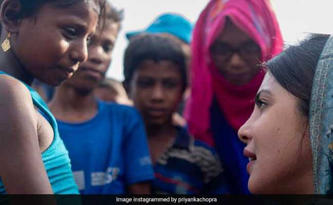 'Saw Vacancy In Their Eyes': Priyanka Chopra On Rohingya Refugee Children