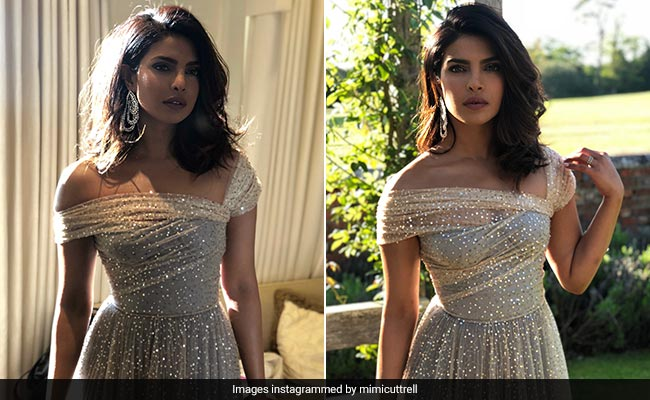 At Meghan-Harry's Reception, Priyanka Chopra Could Have Passed For Royal Herself In This Gown