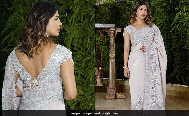 At The Ambani's Last Night, Priyanka Chopra's <i>Saree</i> Could Have Been A Little Bit Brighter. Just Saying