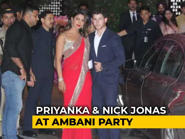 Priyanka Chopra, Nick Jonas Make Couple Entry At Akash And Shloka's Party