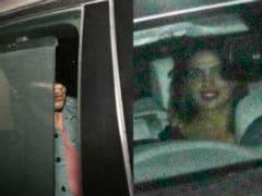 Yes, That's Nick Jonas In The Car With Priyanka Chopra. Location - Mumbai
