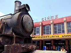105-Year-Old Historic Engine Installed At Darbhanga Station In Bihar