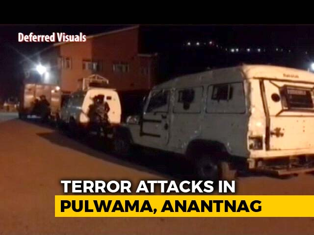 Video : 2 Cops Killed, 10 Injured In Attacks In Kashmir's Pulwama And Anantnag