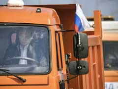 Vladimir Putin Drives Truck Across New Bridge Linking Crimea To Russia