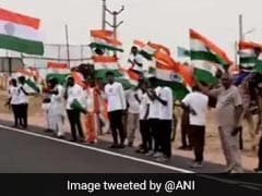 700 Km-Long Human Chain Formed Along India-Pak Border In Rajasthan