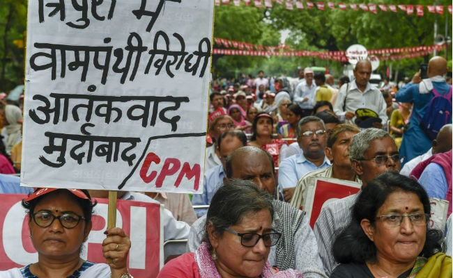 BJP, Trinamool 'Murdering' Democracy In Tripura, Bengal, Say Left Parties