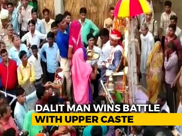 Video : With 150 Cops On Guard, It Was Band, <i>Baaja</i> And <i>Baraat</i> For Dalit Groom