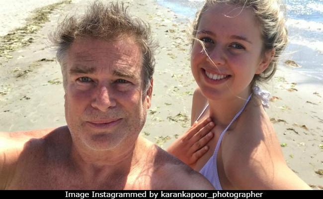 Karan Kapoor And Daughter Aliya In A Rare Selfie From Beach Vacation