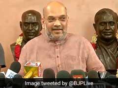 BJP की बैठक में बोले अमित शाह: हम पूर्ण बहुमत के साथ आएंगे, संकल्प की शक्ति को कोई पराजित नहीं कर सकता