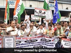 Congress Protests Against Alleged Burning Of Copy Of Constitution