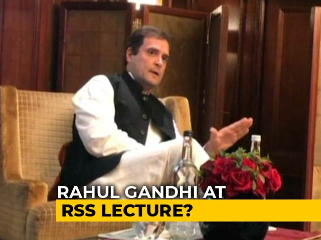 Video : RSS To Invite Rahul Gandhi For Event Next Month, Say Sources