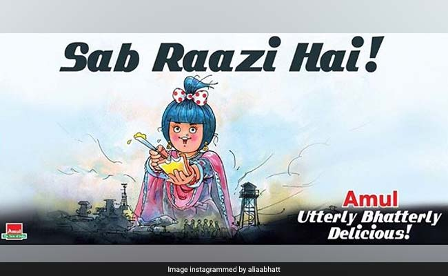 Alia Bhatt As The Amul Girl On Raazi-Special Ad Is 'Utterly Butterly' Cute