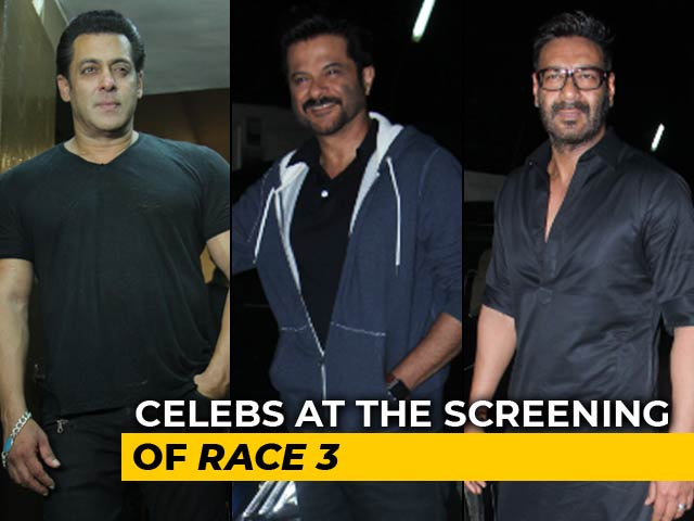 Video : <i>Race 3</i> Screening: Salman Khan, Ajay Devgn, Anil Kapoor & Others