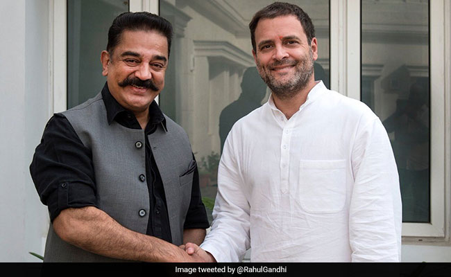 Kamal Haasan Meets Rahul Gandhi, Discusses Politics In Tamil Nadu