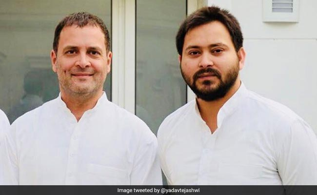 After Skipping 3 Rahul Gandhi Rallies, Tejashwi Yadav Finally RSVPs