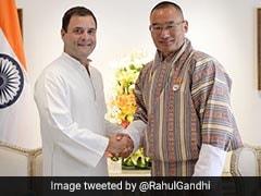 Rahul Gandhi Meets Bhutanese Prime Minister Tshering Tobgay