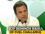 Video : Karnataka's Petro-Price Hike Fuels BJP Jeer at Rahul Gandhi
