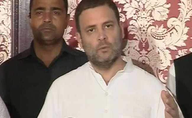 'Grand Alliance Against BJP A Sentiment Of People': Rahul Gandhi