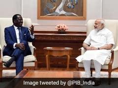 Kenya's Leader Of Opposition Raila Odinga Meets PM Narendra Modi