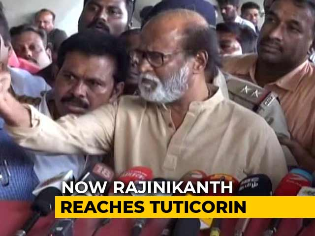 "Video : Rajinikanth Loses Cool, Blames ""Anti-Social Elements"" For Sterlite Deaths"