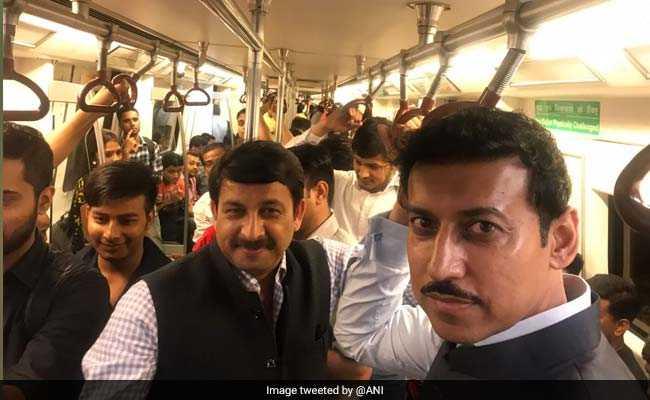 'Stories On The Move': Rajyavardhan Rathore Takes A Ride In Delhi Metro