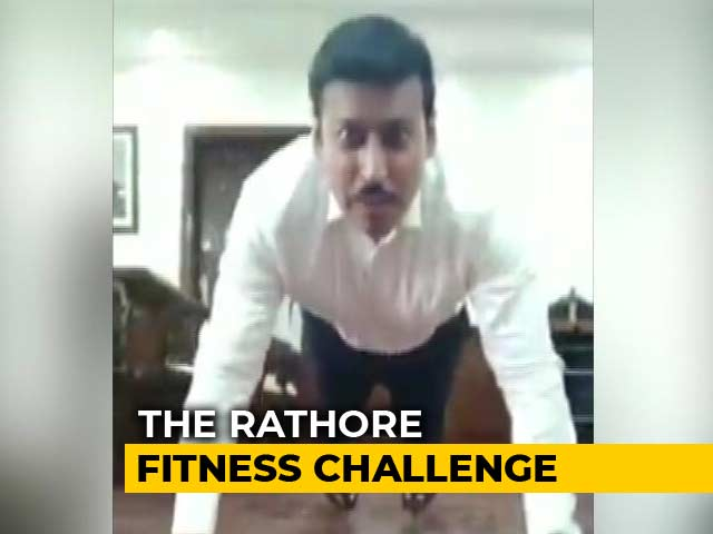 Video : On Twitter, Minister's Fitness Challenge For Indians And These 3 Celebs