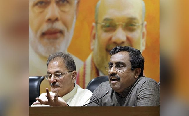 'No Jhanda, No Agenda': Ram Madhav Slams Grand Alliance Against BJP