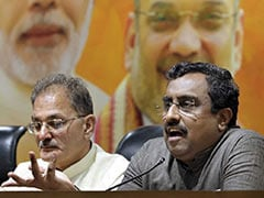 """No <i>Jhanda, </i>No Agenda"": Ram Madhav Slams Grand Alliance Against BJP"