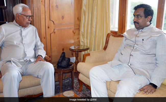 BJP's Ram Madhav Meets Jammu And Kashmir Governor NN Vohra
