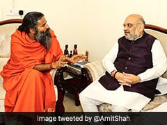 BJP President Amit Shah Meets Baba Ramdev, Seeks Support For 2019 Elections