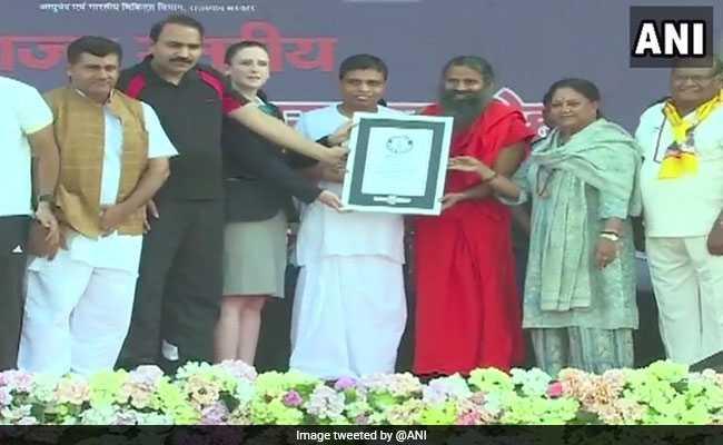 Ramdev-Led Yoga Event In Rajasthan Sets New World Record