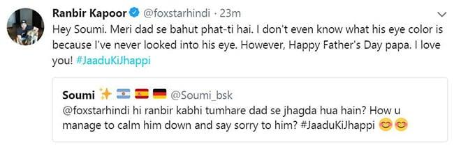 ranbir kapoor tweet