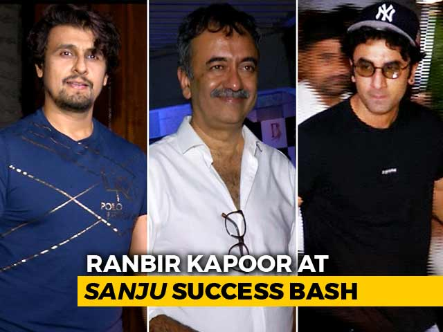 Watch! Ranbir Kapoor, Rajkumar Hirani & Others At The Success Party Of Sanju