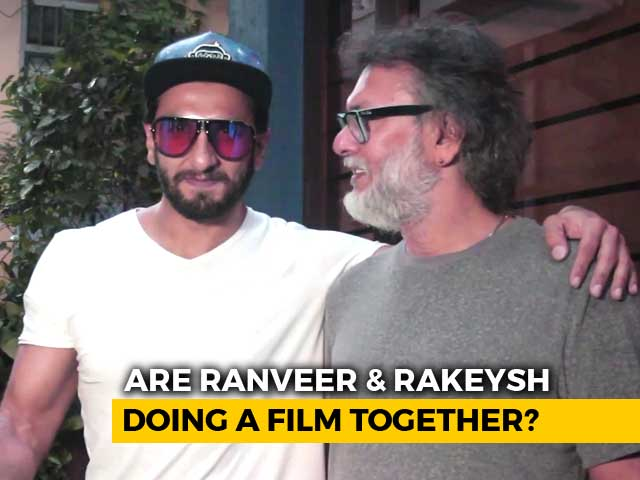 Ranveer Singh Spotted Outside Rakeysh Omprakash Mehra's Office