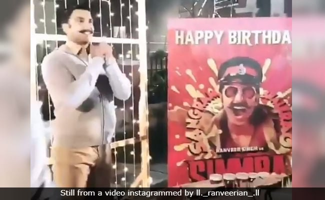 Inside Ranveer Singh's Birthday Celebrations On The Sets Of Simmba