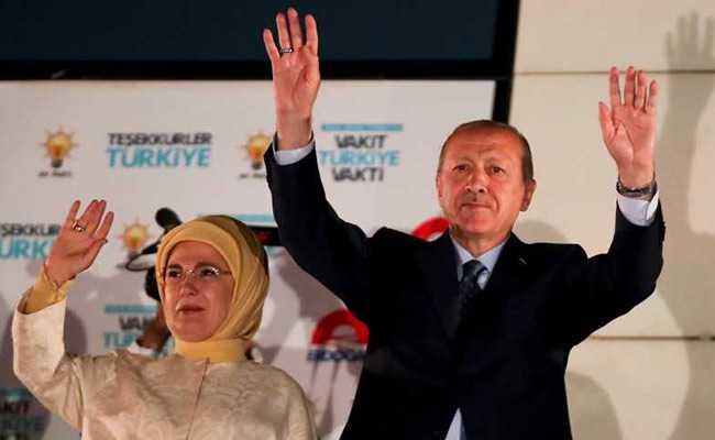तुर्की के राष्ट्रपति चुनावों में राष्ट्रपति रजब तैयब एर्दोआन ने जीत हासिल की