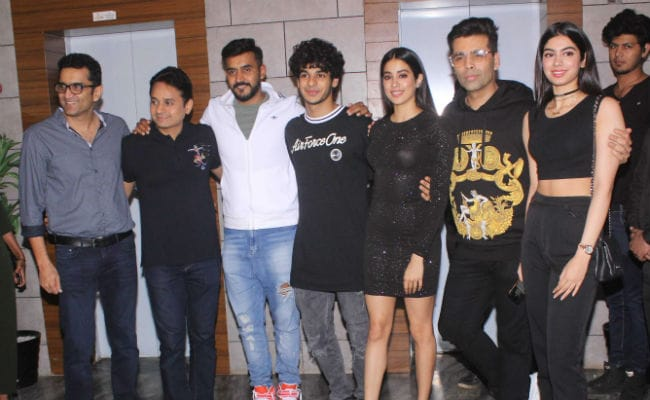 janhvi kapoor and ishaan khatter have a dhadak party invitees